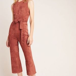 NWT Anthropologie Bishop + Young Suede Jumpsuit